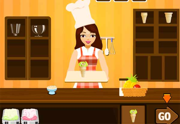 بازی دختر بستنی فروش در آشپزخانه