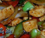 طرز تهیه مرغ و سبزیجات