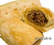 رولت گوشت با نان لواش