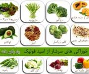 خوراکی سرشار از اسید فولیک