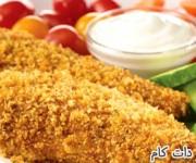 مرغ سرخ شده با خمیر مخصوص