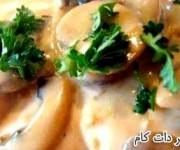 خوراک ساده مرغ با خامه