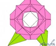 آموزش گل رز - اریگامی گل رز