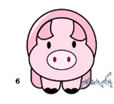 طراحی درخت ساده آموزش نقاشی خوک برای کودکان | یاد بگیر