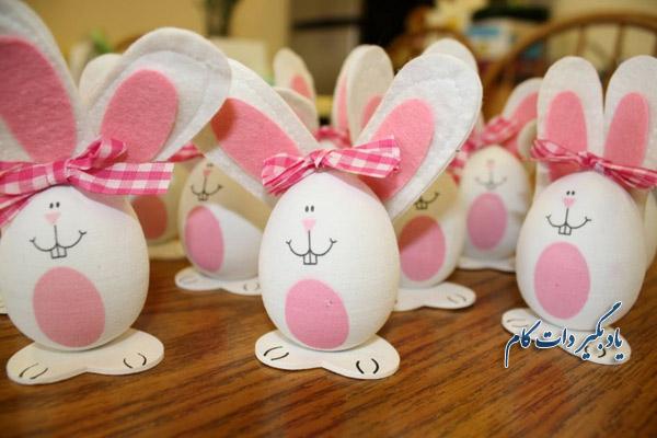 تخم مرغ خرگوشی کار دستی
