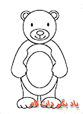 نقاشی خرس قهوه ای
