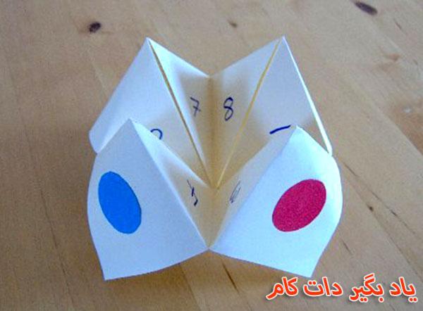 طراحی درخت ساده آموزش ساخت فالگیر کاغذی - اریگامی مربع فال | یاد بگیر