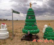 ساخت درخت کریسمس و آدم برفی