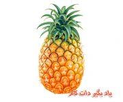 آموزش نقاشی آناناس