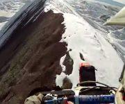 فیلم زیبای موتور سواری در کوهستان برفی
