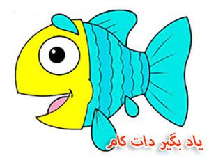 تست زیبایی آنلاین آموزش نقاشی ماهی برای کودکان | یاد بگیر