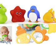 اسباب بازی فشاری و مکیدنی نوزادان تا 6 ماهگی