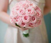 مدل دسته گل های تک رنگ عروس