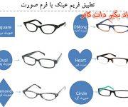 تطبیق فریم عینک با فرم صورت