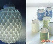 خلاقیت در ساخت چراغ خواب و جاشمعی