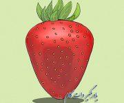 نقاشی توت فرنگی برای کودکان