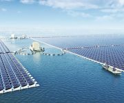آغاز به کار بزرگترین صفحه خورشیدی شناور جهان