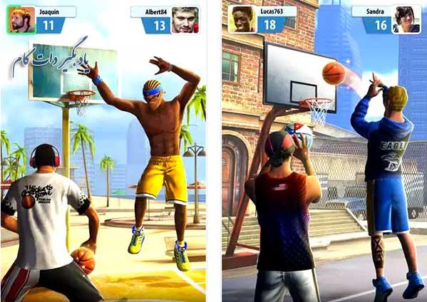 دانلود بازی ستاره های بسکتبال برای اندروید