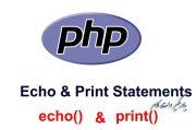 دستور echo و print در PHP