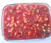 طرز تهیه سالاد سرکه گوجه فرنگی