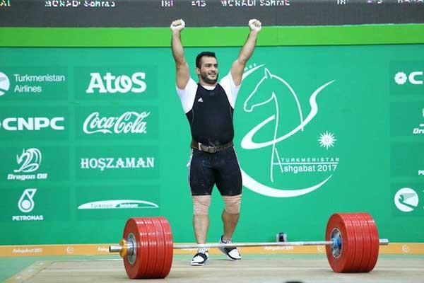 سهراب مرادی، وزنهبردار ایرانی رکورد جهان را شکست