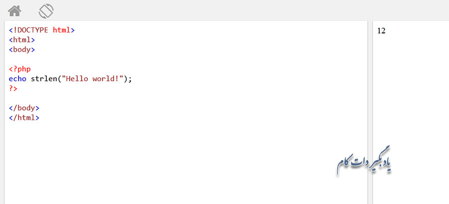 تابع ()strlen در PHP