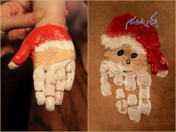 خلاقیت در کشیدن نقاشیهای کریسمسی با رنگ انگشتی | یاد بگیر