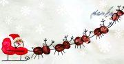 خلاقیت در نقاشی بابانوئل و گوزن