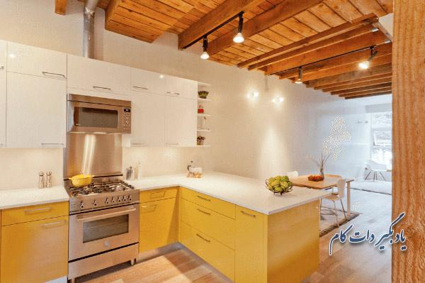 انتخاب رنگ زرد در آشپزخانه