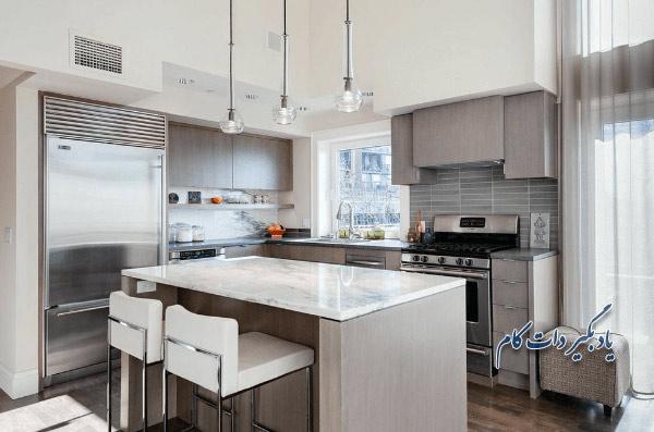 انواع رنگ خاکستری در آشپزخانه