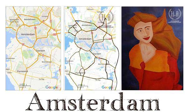 نقاشی نقشه شهرها