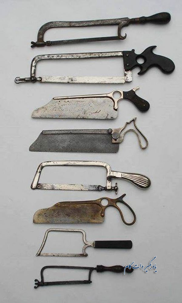 اره های طبی قرن 19 میلادی.