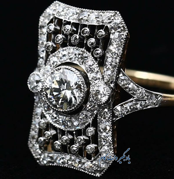 حلقه ازدواج با نگین هایی از الماس متعلق به ویکتوریا