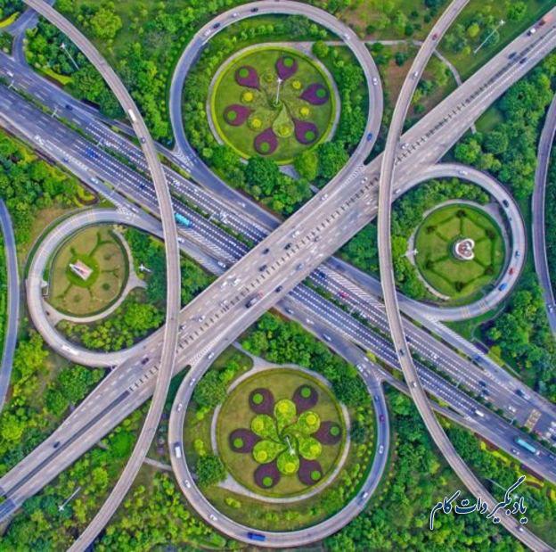عکس از گوو جی هوا تصویر تقاطع پل ها