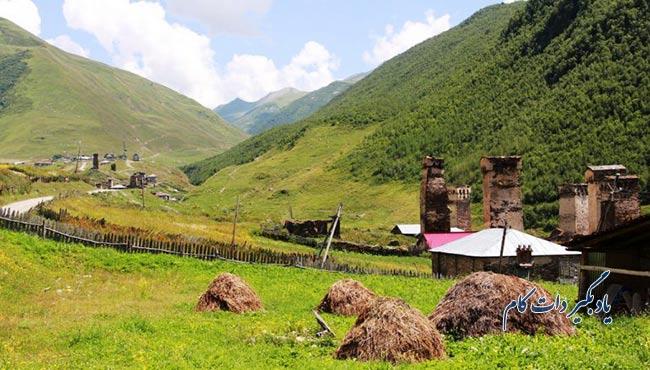 اوشگولی از جاذبه های گردشگری گرجستان