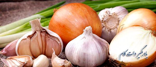 غذاهایی مثل سیر و پیاز عامل بوی بد دهان