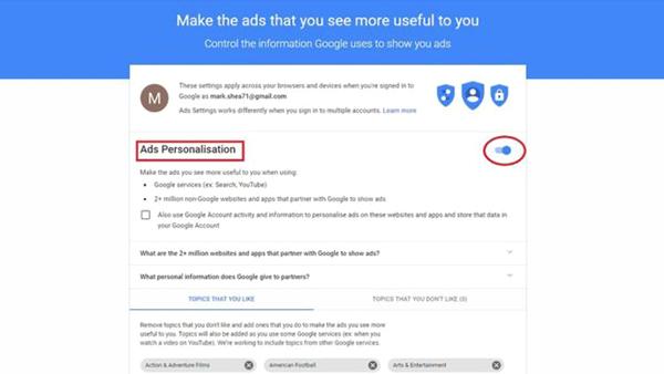 پاک کردن ردپای خود در گوگل