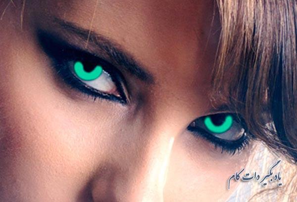 رنگ کردن عنبیه چشم