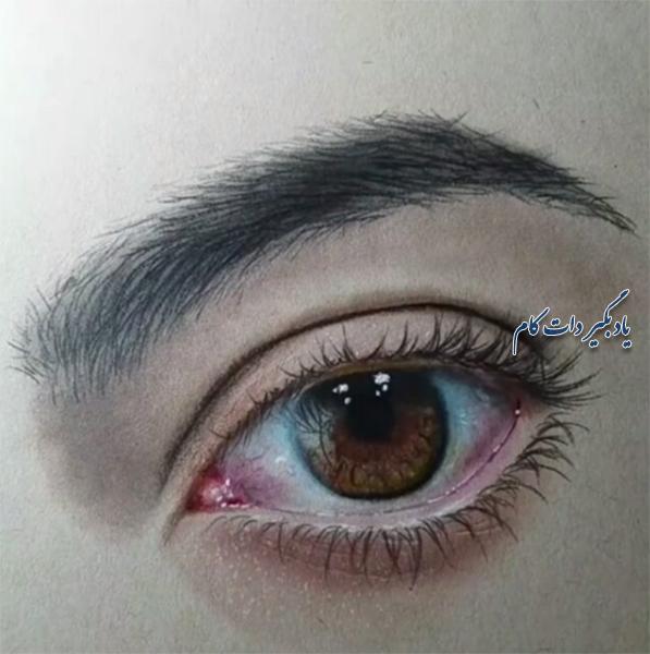 آموزش نقاشی چشم سه بعدی