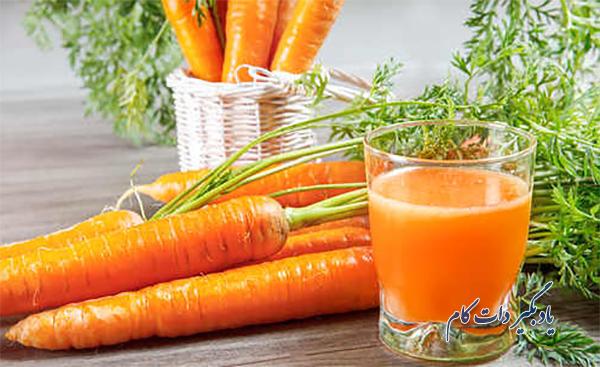 آب هویج درمان کم فشاری خون