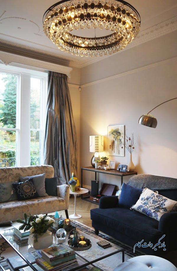 توجه به نورپردازی اتاق در چیدمان اتاق نشیمن