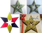 اریگامی ستاره با اسکناس و کاغذ
