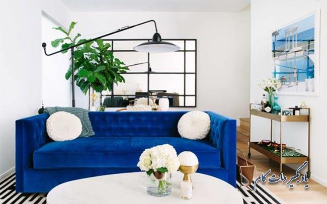 مبلمان آبی رنگ