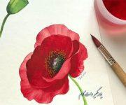 نقاشی گلهای بهاری زیبا برای کارت تبریک عید نوروز