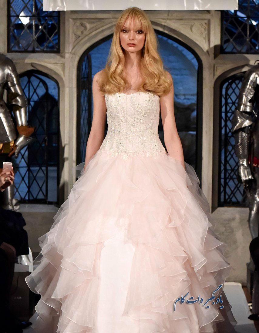 لباس عروس صورتی مدل جدید