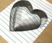نقاشی سه بعدی قلب