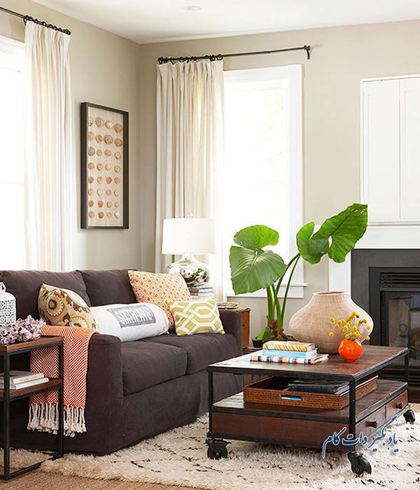 با مبلمان قهوه ای رنگ چگونه خانه را زیبا بچینید