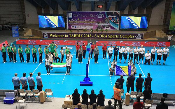 شروع مسابقه والیبال نشسته ایران و بوسنی