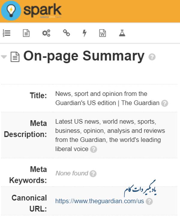 افزونه Spark Content Optimizerبرای تجزیه و تحلیل محتوای سایت