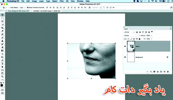ایجاد یک کلاژ دیجیتالی، کپی پیست عکس